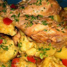 Mancare de Pui cu Galuste si Cartofi 20 Min, Cooking Recipes, Chicken, Food, Chef Recipes, Essen, Meals, Yemek, Eten
