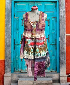 Gypsy Recycled DressBohemian DressMulticolor by Flowerchild1964