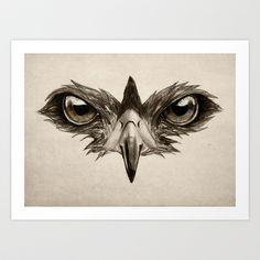 Hawk Eye Glare Art Print by Isaiah K. Stephens - $15.00