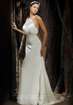 uprostřed+zadního+dílu+Výšivka+Okouzlující+Stříbrná+Svatební+šaty