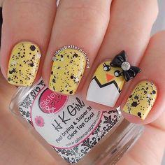 6 Yellow Nail Design