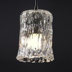Justice Design Group Veneto Luce Collection Mini-Pendant Light | GLA-8815-16-CLRT-DBRZ | Destination Lighting