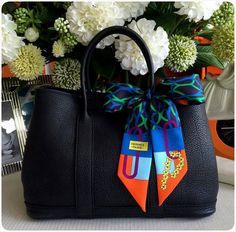 Hermes Garden Party 36cm in White Colour & Matching Twilly.