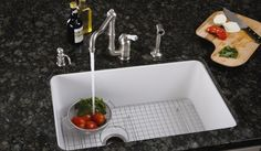 Layout White Undermount Kitchen Sink Granite From Mixer. Tips Undermount Single Bowl Kitchen Sink Porcelain Concerning Backsplash. Gorgeus Undermount Kitchen Sink Granite And Sink Lyrics