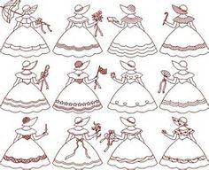 Risultato immagine per red work bonnet patterns