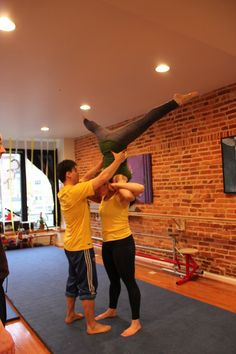 Adult Acro Class @charmcitymove #baltimore #circus Circus Activities, Acro, Baltimore, Basketball Court, Sports, Hs Sports, Excercise, Sport, Exercise