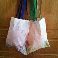 Bolsas de tela para Martina y Noa