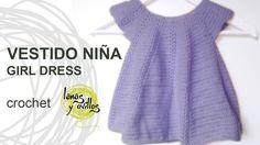 Tutorial Vestido Niña Bebé Crochet o Ganchillo Baby Girl Dress (English ...