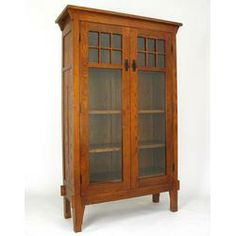 Tall mission style curio cabinet. I've been looking for one just like this!