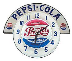 Pepsi Cola Soda Neon Cleveland Marquis Clock