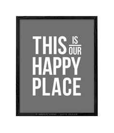 This is my happy place print Typography print minimal decor minimal typography wall art gray wall art modern wall art modern art quote print Typography Quotes, Typography Prints, Quote Prints, Art Quotes, Grey Wall Art, Modern Wall Art, Work Hard Stay Humble, Monochrome Nursery, Triangle Print