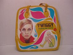 1967 Twiggy Fashion Tote by IZFunkyResale1 on Etsy, $79.98