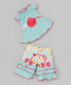 Another great find on #zulily! Blue & Pink Vicky Doll Outfit #zulilyfinds