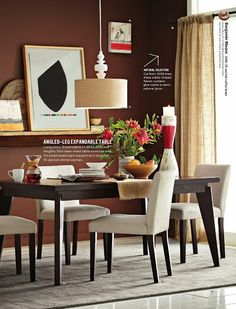 Angled dining table - west elm