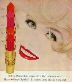 Helena Rubinstein 'Heart-Shape Lipstick' Ad, 1959