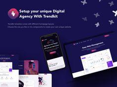 Trendkit - Digital Agencies & SaaS Template by creabik Management, Templates, Digital, Stencils, Vorlage, Models