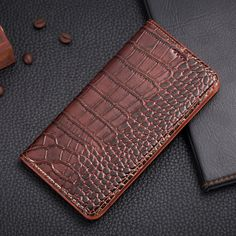 Vintage Magnet Genuine Leather Case For Huawei Honor 8 Honor8 / V8 Luxury Mobile Phone Crocodile Grain Leather Cover