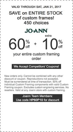 65 off 10 off your entire custom frame order