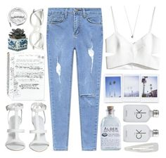 """""""Beach surf"""" by encripted ❤ liked on Polyvore featuring OKA, Retrò, Alder New York, H&M, Calvin Klein, Vanessa Mooney, Forever 21 and Urbanears"""