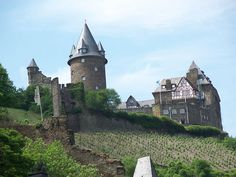 Bacharach, Germany.  Castle with vineyards on the Rhine River that we stayed in  (a youth hostel) in Europe.  One of the most amazing places i've ever been!