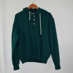 Vintage Slouchy Dark Green Sweatshirt Hoodie Not AA, just listed for exposure! American Apparel Sweaters Crew & Scoop Necks