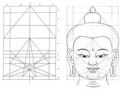 Drawing the Face of the Buddha! -  Afm tekenpapier: 24 X 28