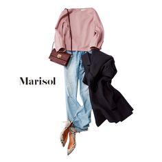 トントン拍子で同棲話に!愛の巣探しは大人ピンクにデニムを合わせて【2017/12/10コーデ】Marisol ONLINE|女っぷり上々!40代をもっとキレイに。