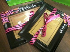 Customized - hand painted - newlywed - picture frame gift set $20 Great for holidays, special occasions, or wedding.