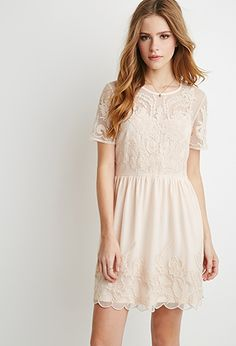 Embroidered Overlay Dress | Forever 21 - 2000167332