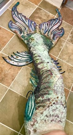 Mermaid tail silicone artist amy lamphere