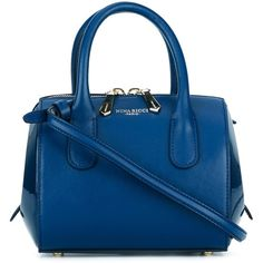 Nina Ricci small crossbody bag (£840) ❤ liked on Polyvore featuring bags, handbags, shoulder bags, blue, purses, nina ricci handbags, patent handbags, patent leather shoulder bag, blue cross body purse and cross-body handbag