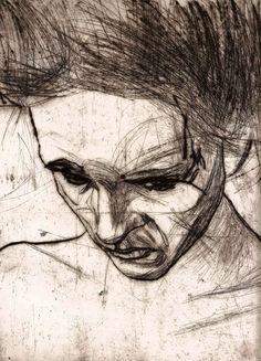Jakub Czyz, charcoal sketches on paper, 2013.