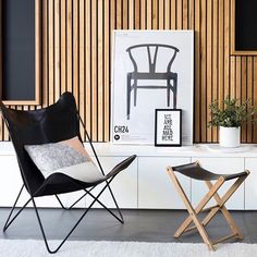 """Because there's nothing better than our BRAND NEW BUTTERFLY CHAIR!!!!! How stunning is this genuine polished black leather hide on a matte black steel frame  available at www.designtwins.com under """"chairs""""  STORE OPEN 10 - 5 TODAY STORE CLOSED TOMORROW"""