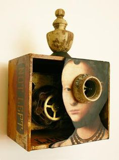 Assemblages 2017 Found Object Art, Found Art, Collages, Collage Art, Box Art, Art Boxes, Shadow Art, Assemblage Art, Art Challenge
