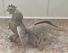 A metal figurine of a fighting Cockerel, very nicely cast. Titanium Metal, Metal Figurines, Metal Bar, Home Decor Styles, Lion Sculpture, It Cast, Pure Products, Ebay
