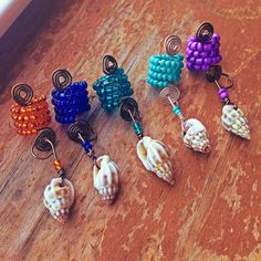 Hey, I found this really awesome Etsy listing at https://www.etsy.com/listing/180701268/beaded-seashell-loc-jewelry-1pc-many