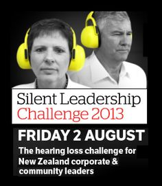 August 2, 2013 is the Silent Leadership Challenge in New Zealand! Go to www.healthaware.org for link to more information. New Zealand, Leadership, Challenges, Link