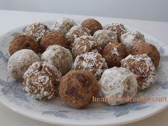 Raw vegan chocolate nut fruit balls recipe