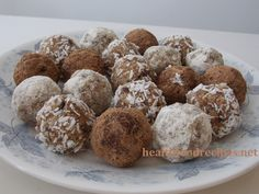 Raw vegan chocolate nut fruit balls recipe