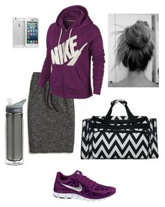 """Here & There"" by hgcampbell ❤ liked on Polyvore featuring Madewell, NIKE and CamelBak"