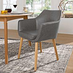 Stuhl Petrulli, hellgrau - 4 Fuß Stühle - Stühle & Freischwinger - Esszimmer - Möbel