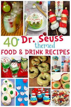 Happy Birthday to our favorite children's book author, Dr. Seuss! Celebrate by making one of these creative recipes inspired by Dr. Seuss books and the fun characters he created.