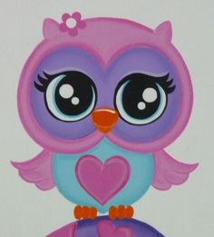 Cute Owl Painting On Canvas My beautiful hand painted