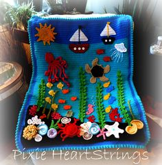 Completed Under the Sea baby afghan... inspiración