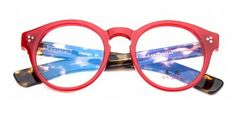 ONIARAI Retro Red & Tortoiseshell .Round Glasses & Spectacles for Women and Men from Ozeal| Buy Vintage Glasses Online