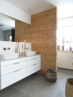Badezimmer I feel the plant field matches completely in our rest room however I am afraid it's going Bad Inspiration, Bathroom Inspiration, Bathroom Interior, Interior Design Living Room, Baby Bathroom, Bathroom Ideas, Family Room, Sweet Home, New Homes
