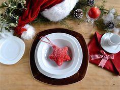 Piatti in porcellana per la tavola #eco-friendly Segnaposto Oggi decoro Hand Painted  marrone + piatto piano, piatto fondo, piatto pane; tazze e piatto nella forma Oggi  www.ancap.it