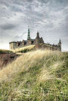Renaissance Kronborg Castle in Helsingor, Denmark (Hamlet's Castle).