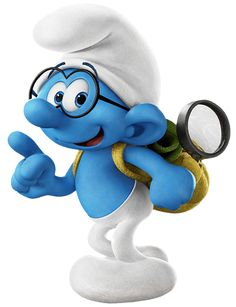 Brainy Smurfs The Lost Village Transparent PNG Image