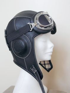 aviator hat ,steampunk hat, tankgirl hat